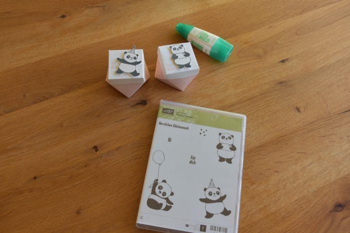 Diamantbox mit Panda und Stempelset